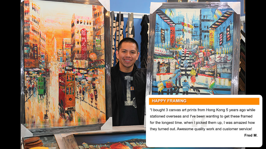 Fred-M testimonial for Jacquez Art & Custom Framing