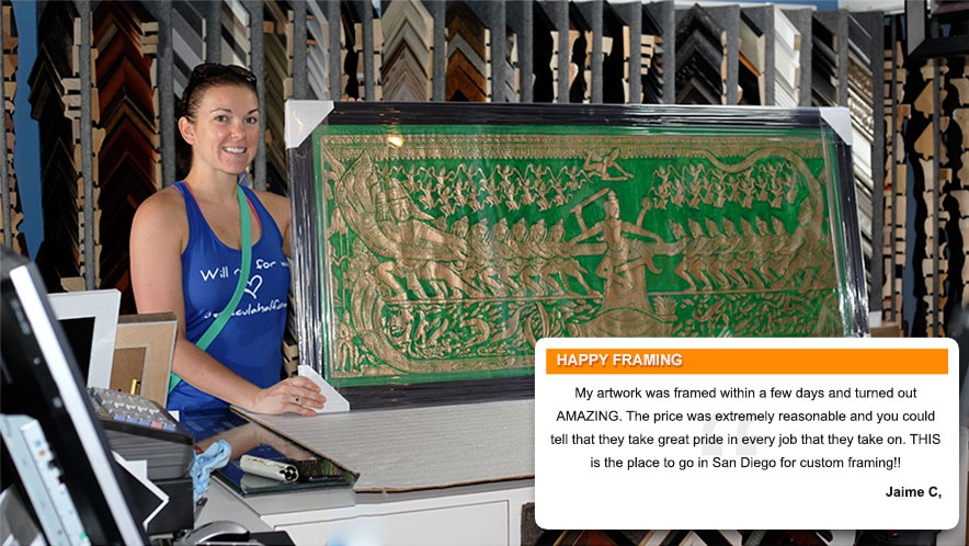 Jamie C. Review of Jacquez Art & Custom Framing