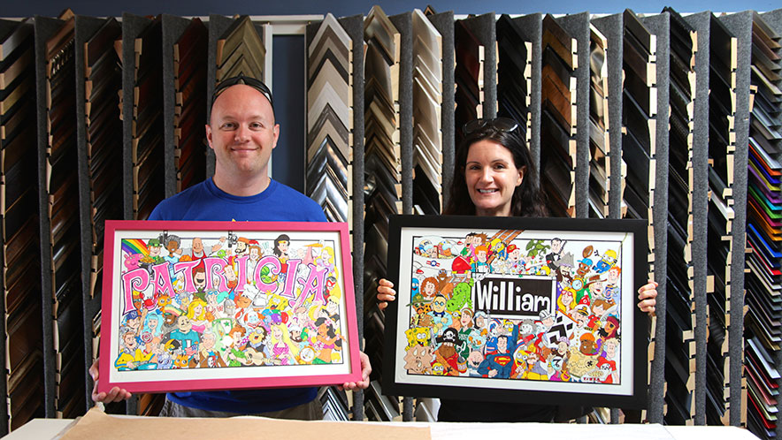 12 for 12 Designs Artwork for Kids Custom Framed Two fun pieces we did for this couple's kids rooms. The artwork came from a company called 12 for 12 Designs. The couple loved how the frames came out and we are certain they look great in the kids' rooms.