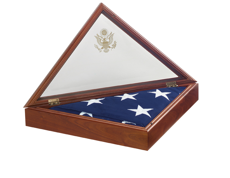 Flag Case Presidential 3 Open Walnut