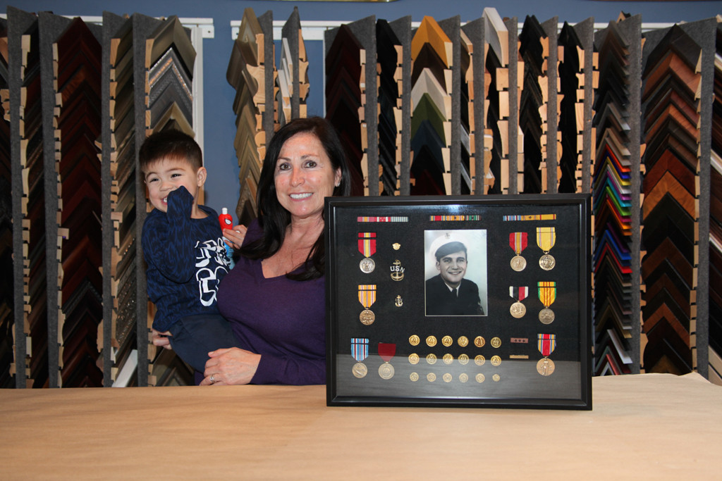 Custom Framed Military Medals and Ribbons -