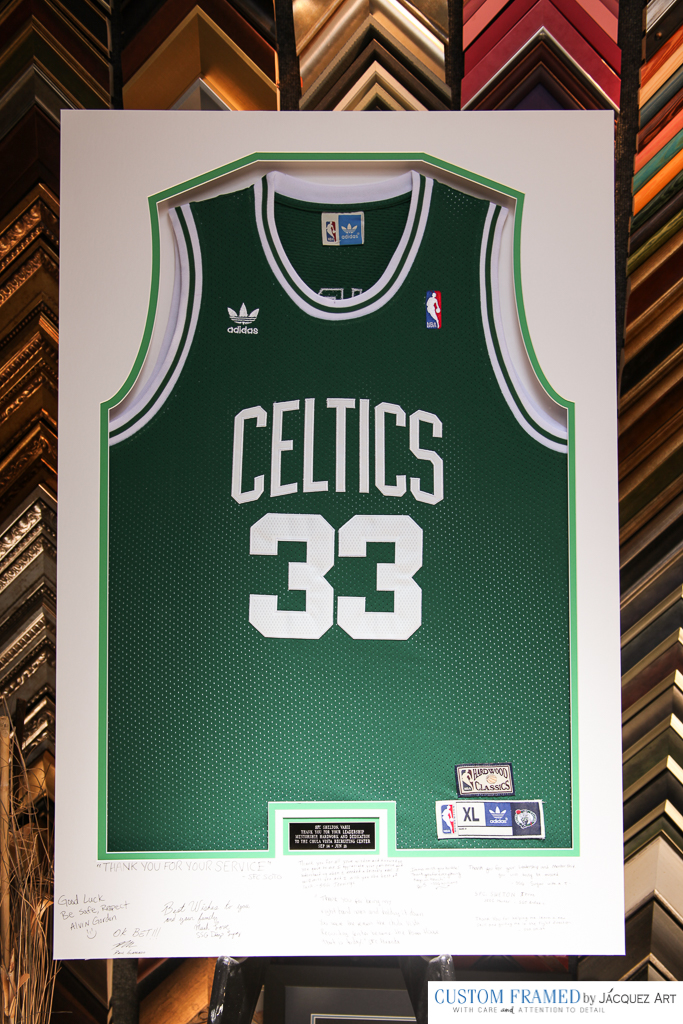 Custom Framing a Larry Bird Celtics Jersey for an Army Officer ... a6c4a6cf2