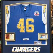 San Diego Chargers Muncie Framed Jersey Finished