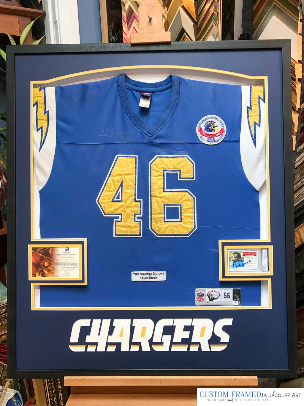 Professionally Framing A San Diego Chargers Throwback