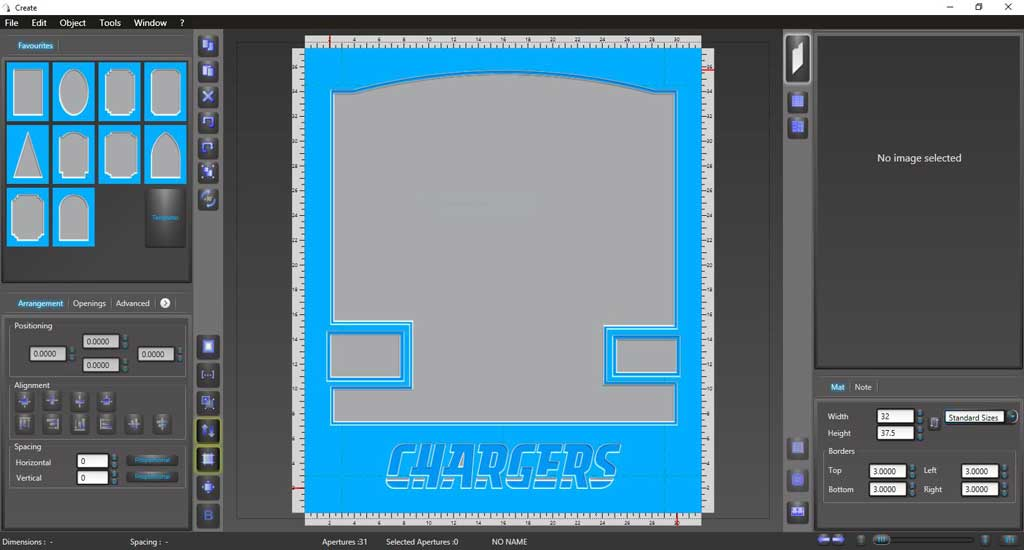 San Diego Chargers Muncie Matboard design