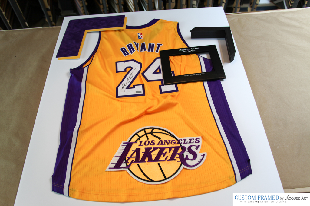 d0ce42b15 Framing a Signed Kobe Bryant Lakers Jersey - Jacquez Art   Custom ...