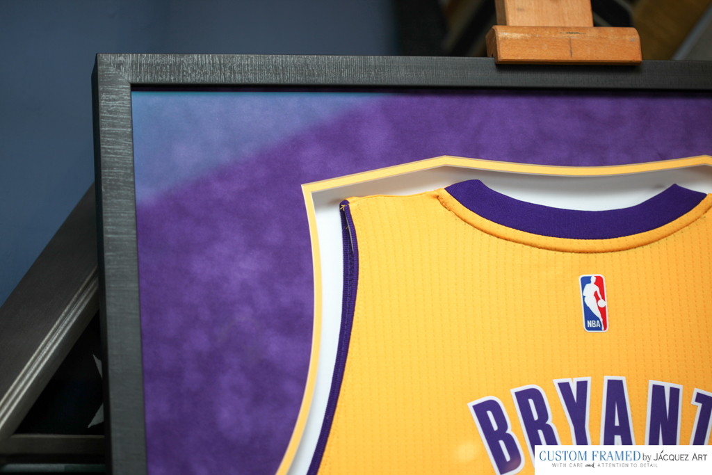 757bae637 Official Los Angeles Lakers Colors - Jacquez Art   Custom Framing