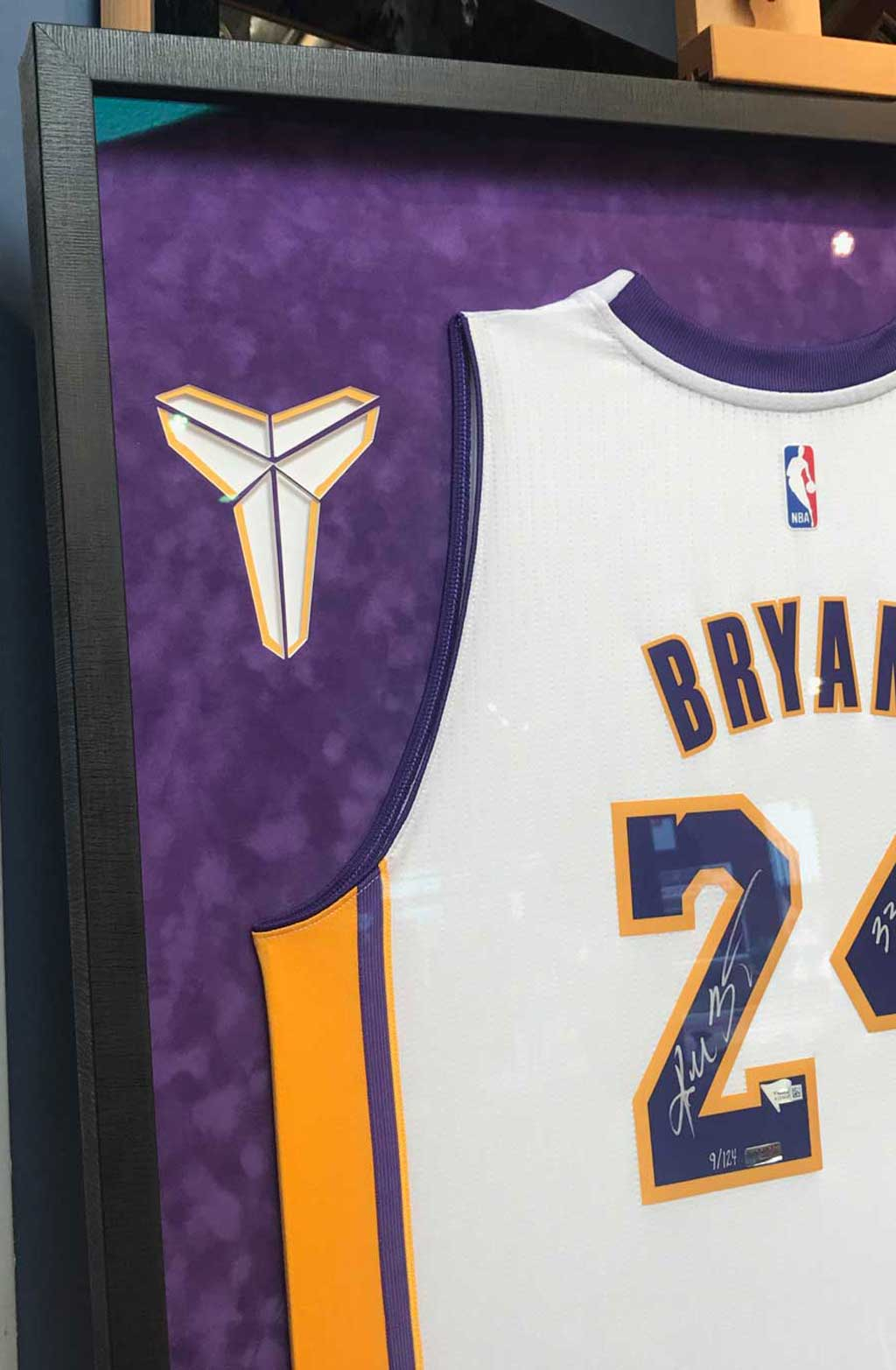 big sale b6420 6ce2e 4 Ways to Frame a Signed Kobe Bryant Jersey - Jacquez Art ...