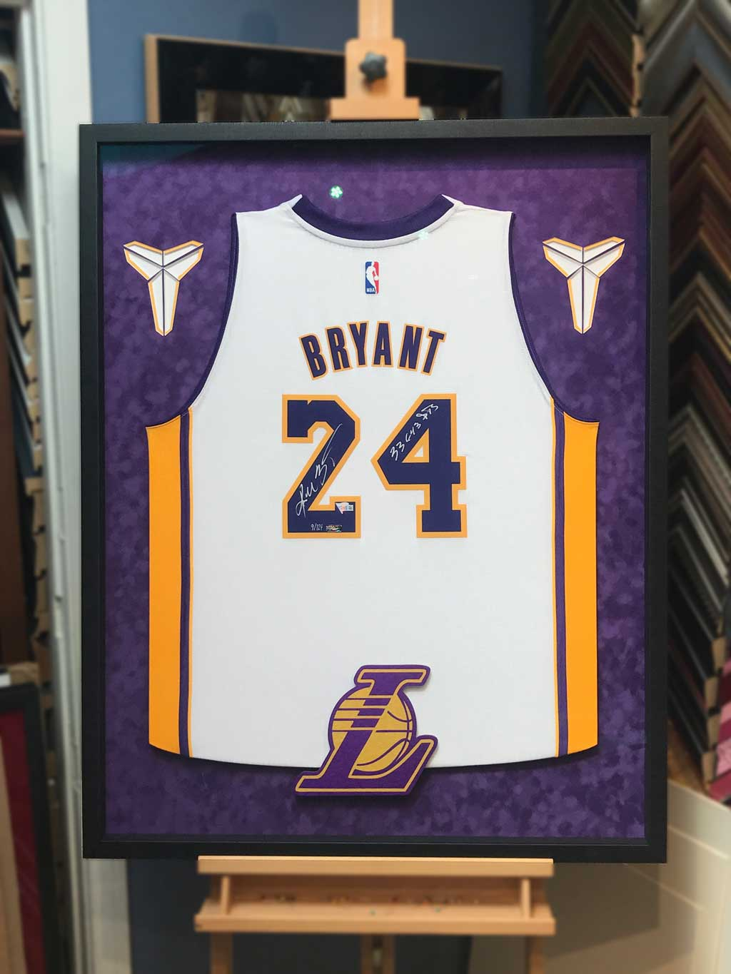 4 Ways to Frame a Signed Kobe Bryant Jersey - Jacquez Art & Custom ...