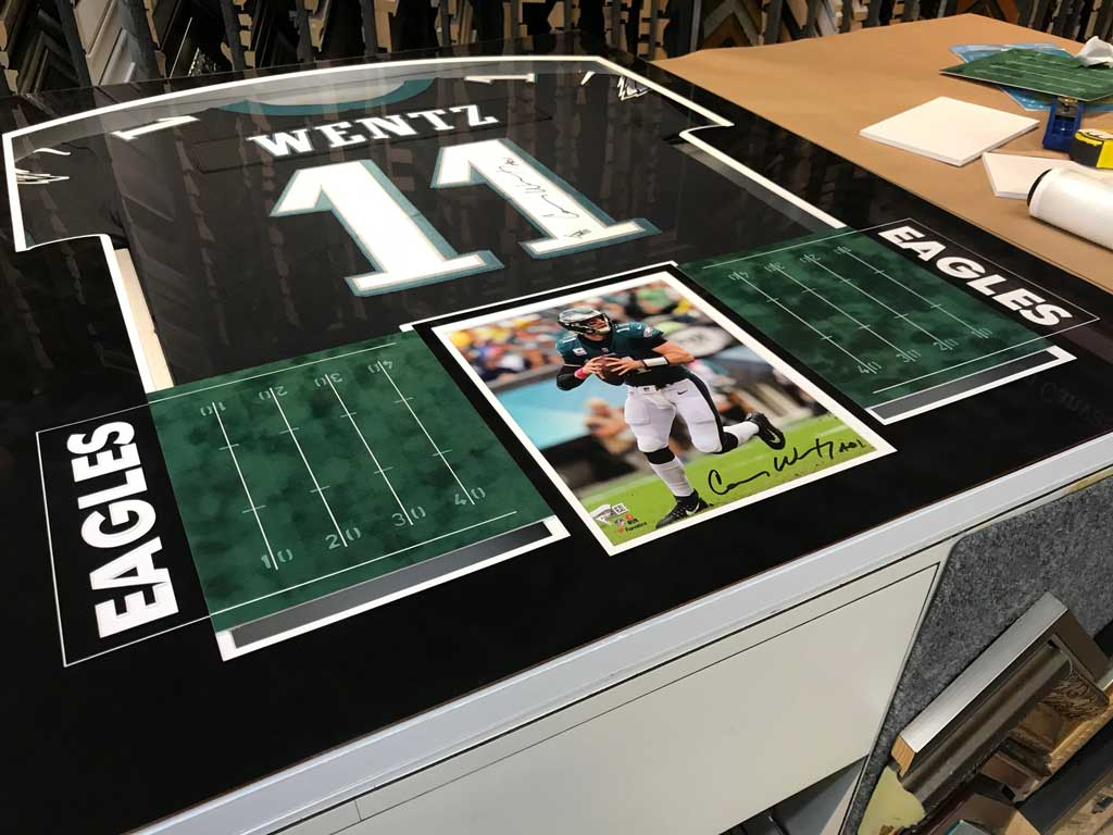 Framing a Signed Carson Wentz Jersey From the Philadelphia Eagles ...