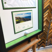 hole-in-one framing by Jacquez Art