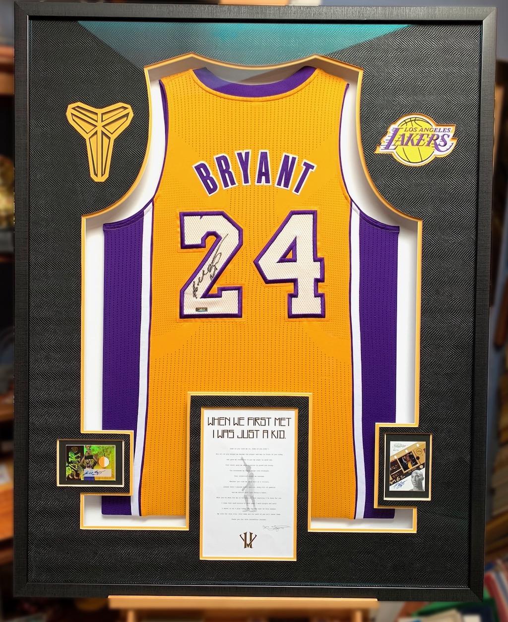 10-PLUS Ways to Frame a Signed Kobe Bryant Jersey - Jacquez Art ...